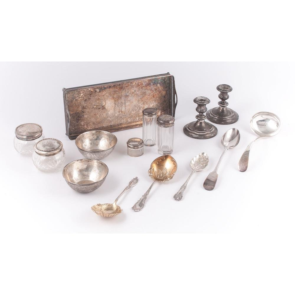 Sterling-Mounted Accessories and Silverplate