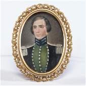 Miniature Portrait of Seminole War-Era Captain George