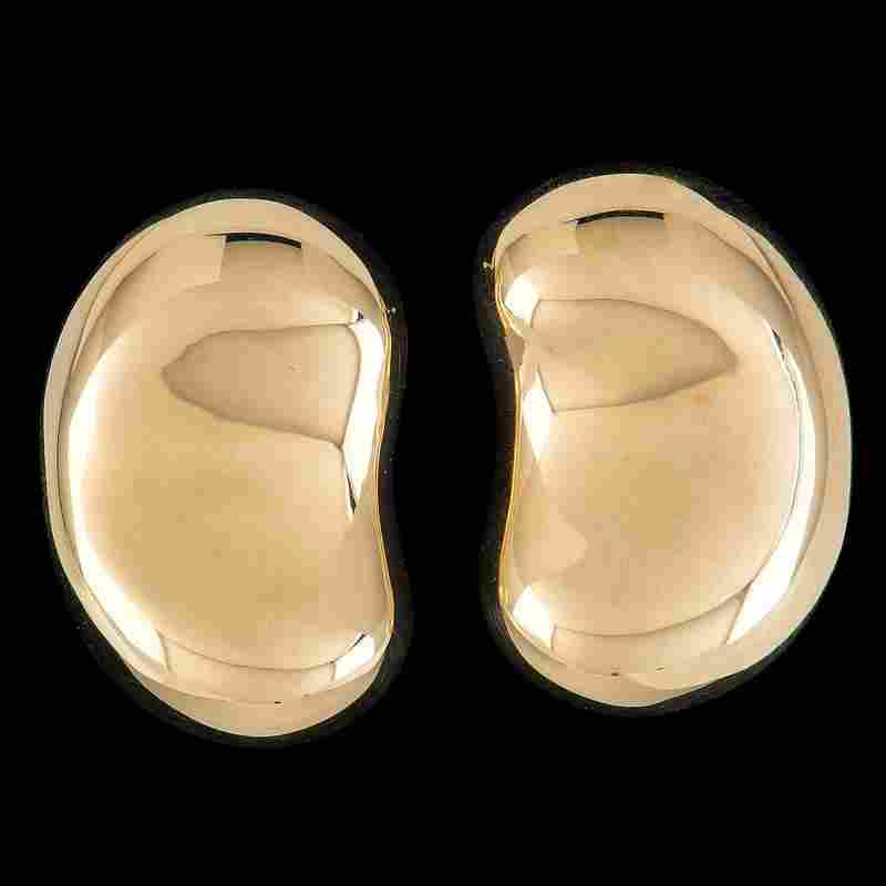 Tiffany and Co. Elsa Peretti 18k Gold Bean Earclips