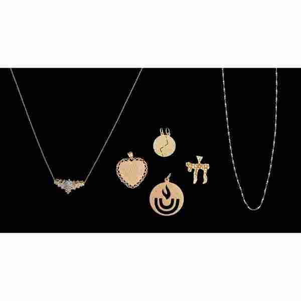 Gold Jewelry, Lot of Six