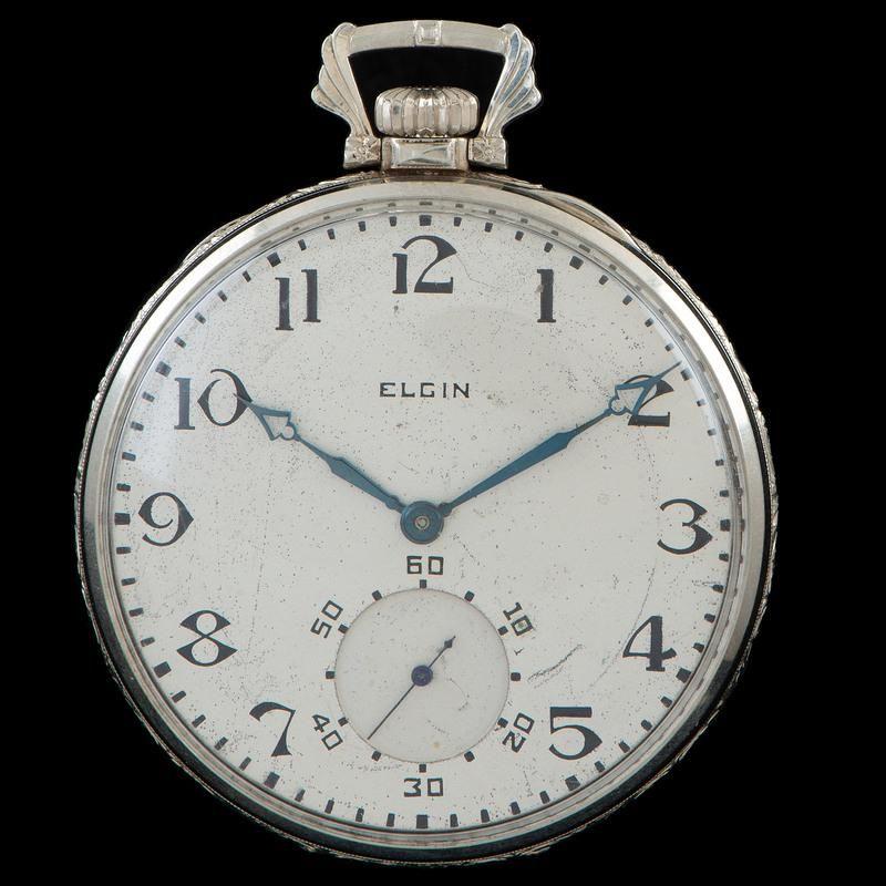 Elgin 14k White Gold Pocket Watch