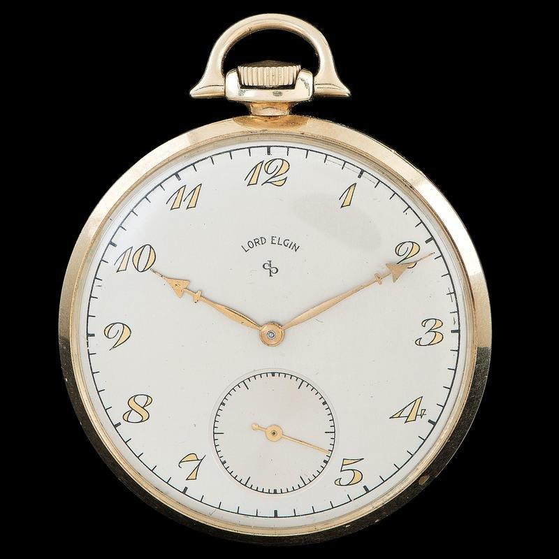 Elgin 14k Gold Presentation Pocket Watch