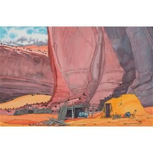 Baje Whitethorne (Dine, b. 1950) Watercolor on Paper