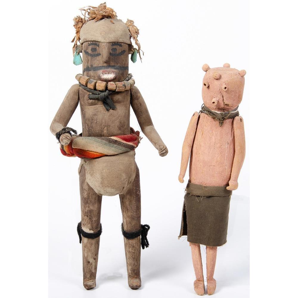 Hopi Koyemsi Katsina AND Zuni Koshari, From The Harriet