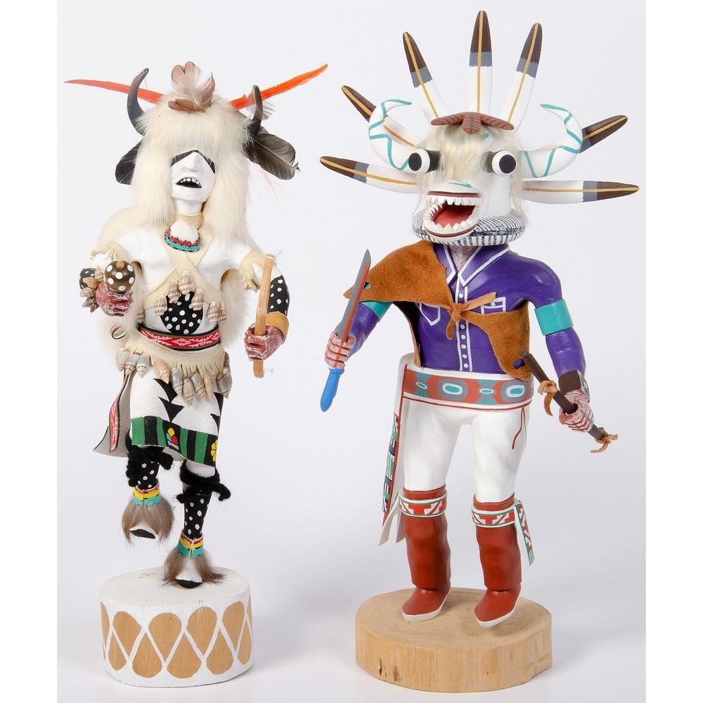 Hopi White Buffalo AND White Ogre Katsinas
