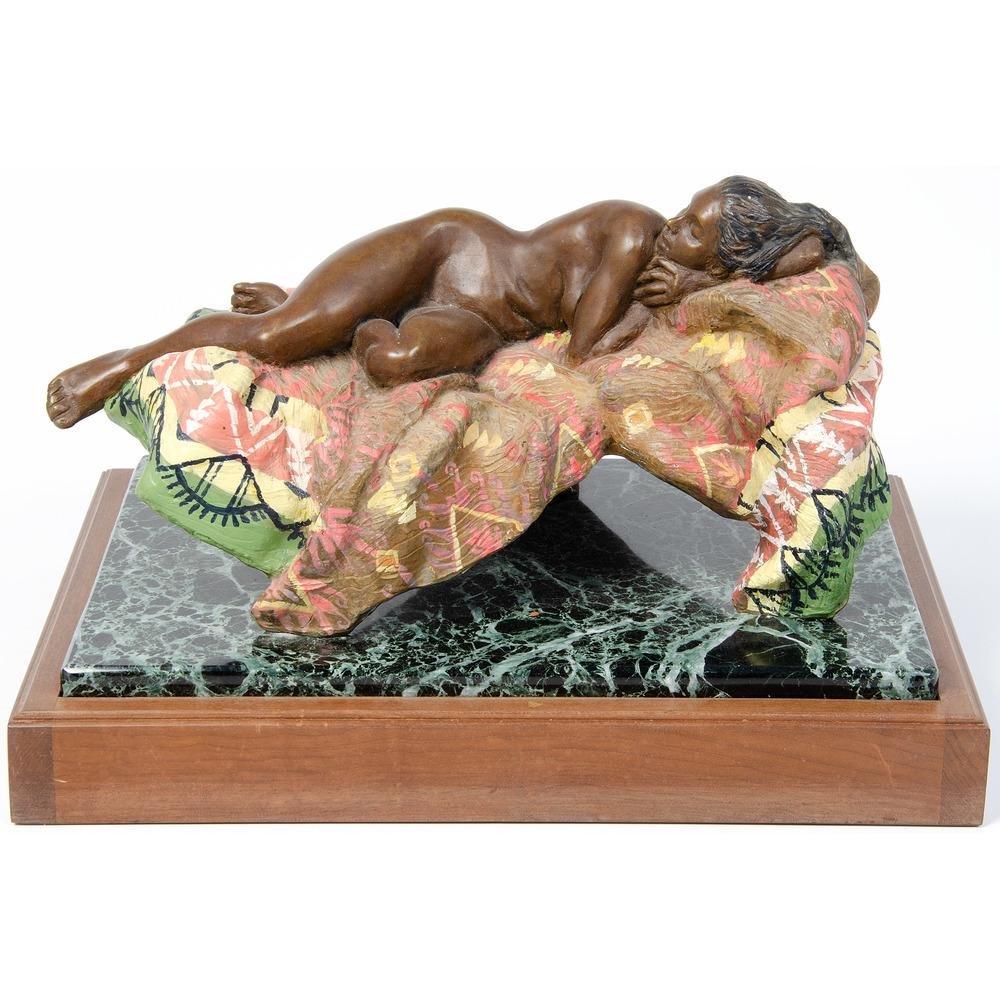 Joan Hanley (American, 1938-2019) Bronze Sculpture,