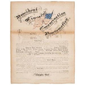 California Imprint of President Lincoln's Emancipation