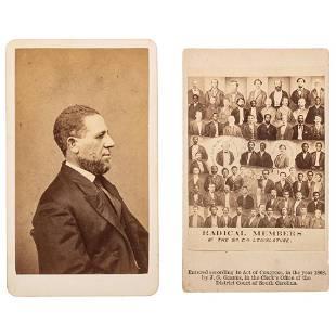 Mathew Brady CDV Hiram Revels ca 1865 with CDV