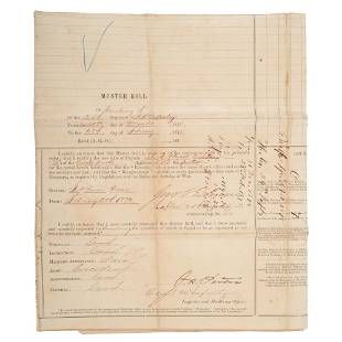 24th Infantry Buffalo Soldiers Muster Roll 1875