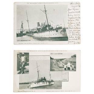 USS Bennington Explosion Printed Postcards San