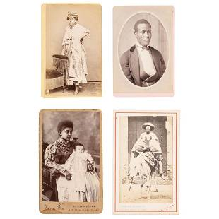 CDVs of Africans in New World Countries ca 18701895