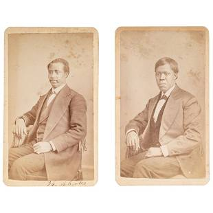 CDVs of African American Oberlin Students ca 1875