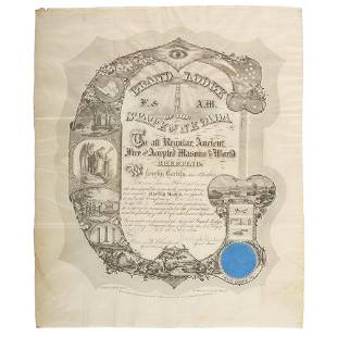 Grafton Tyler Brown Nevada Printed Masonic Appointment