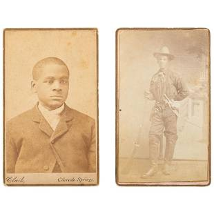 Two Colorado CDVs of African Americans ca 1880
