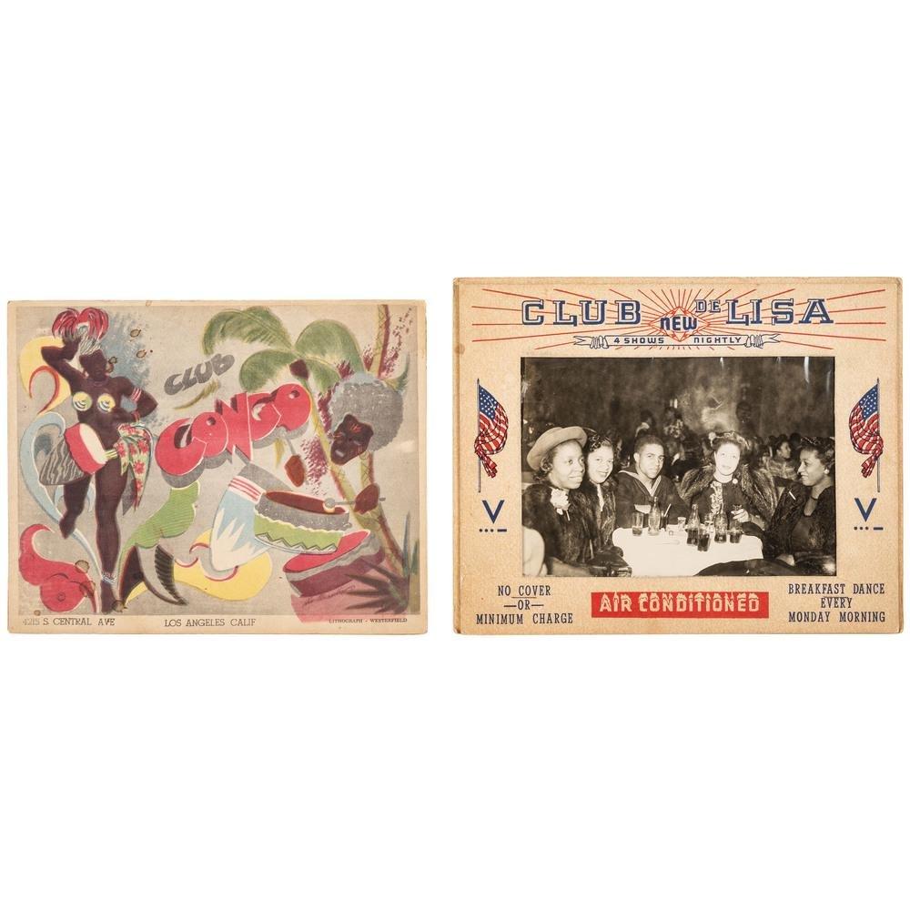 "California Black Club Souvenir Photos with Rare ""Club"