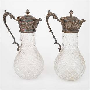 SilverMounted Cut Glass Decanters