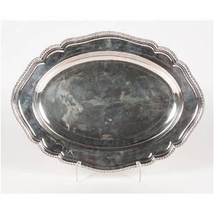 English Silverplated Tray