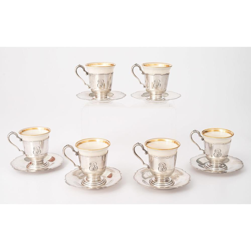 Barbour Silver Co. Sterling Demitasse Cups and Saucers