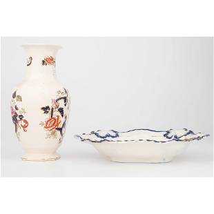 English Ironstone Tureen Bowl and Vase
