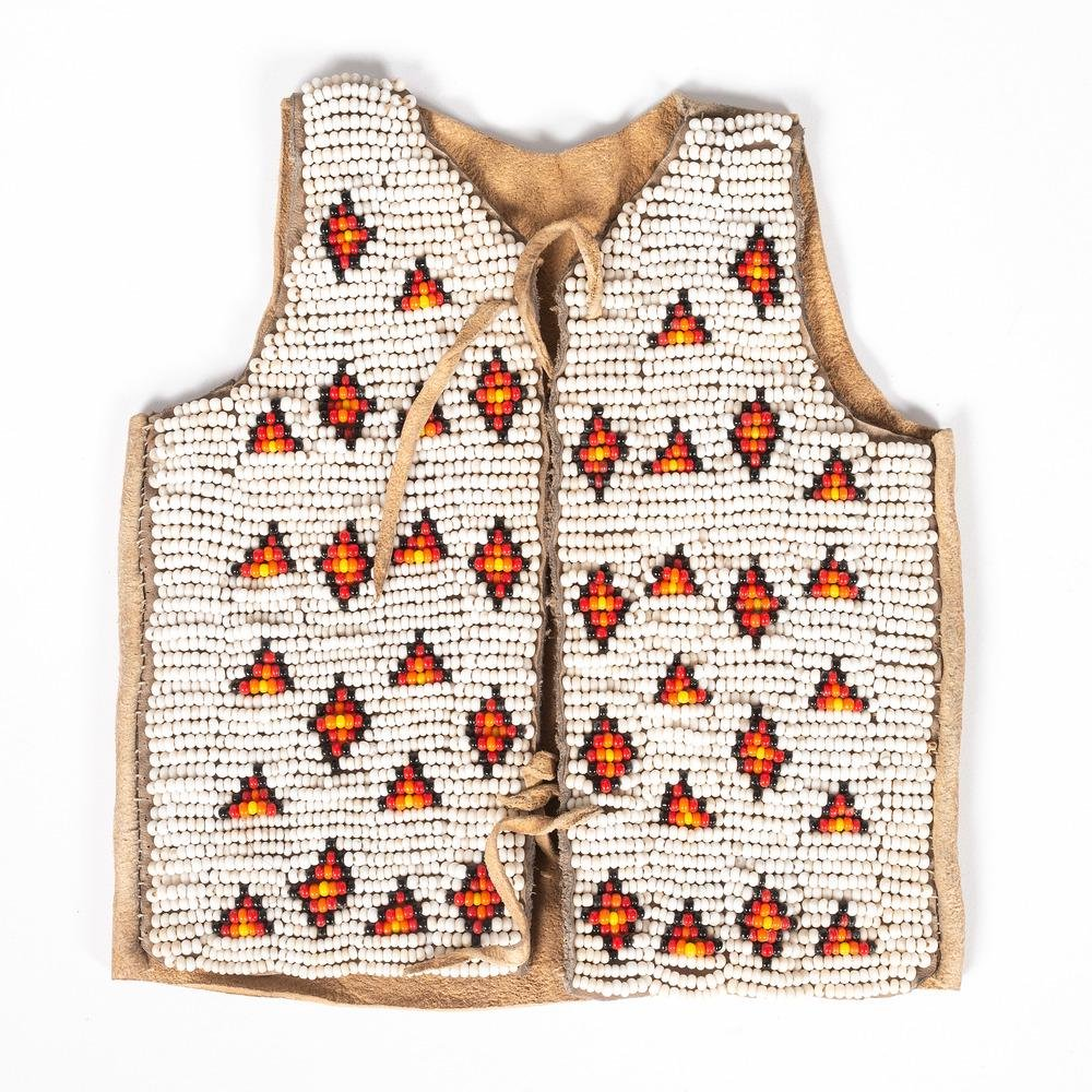 Sioux Child's Doll Beaded Hide Vest