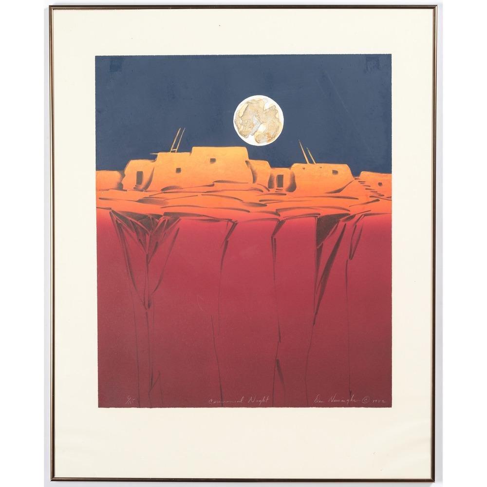 Dan Namingha (Hopi/Tewa, b. 1950) Lithograph on Paper