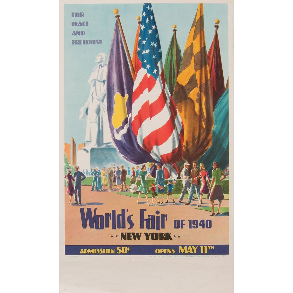 1940 New York World's Fair Posters, Lot of Two