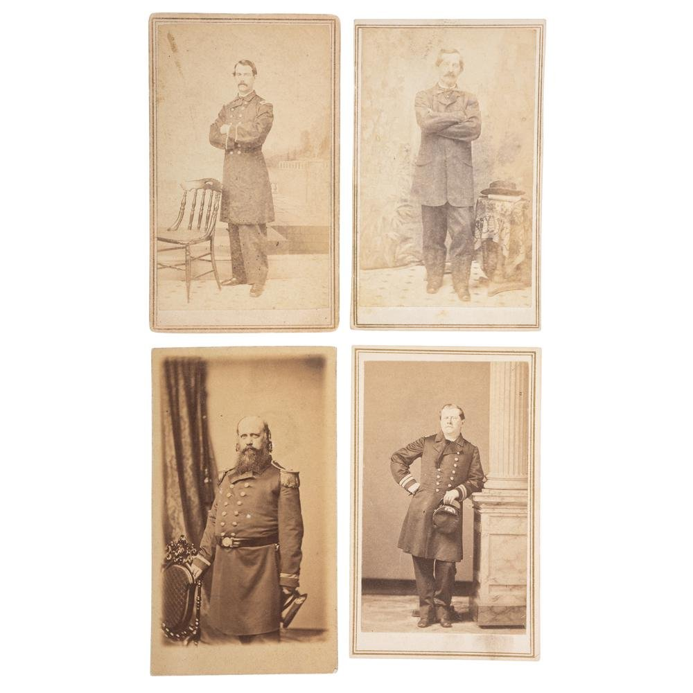 Four CDVs of Identified Naval Officers, Incl. Thomas