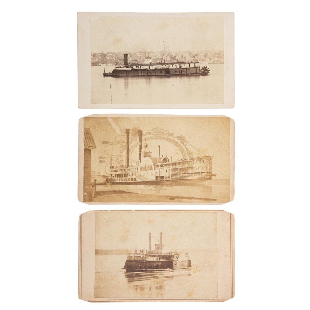 Three CDVs of Brown Water Navy Vessels, incl. Two