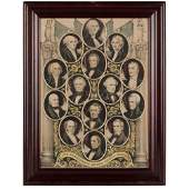 Presidents of the United States, Fifteen Lithographs by