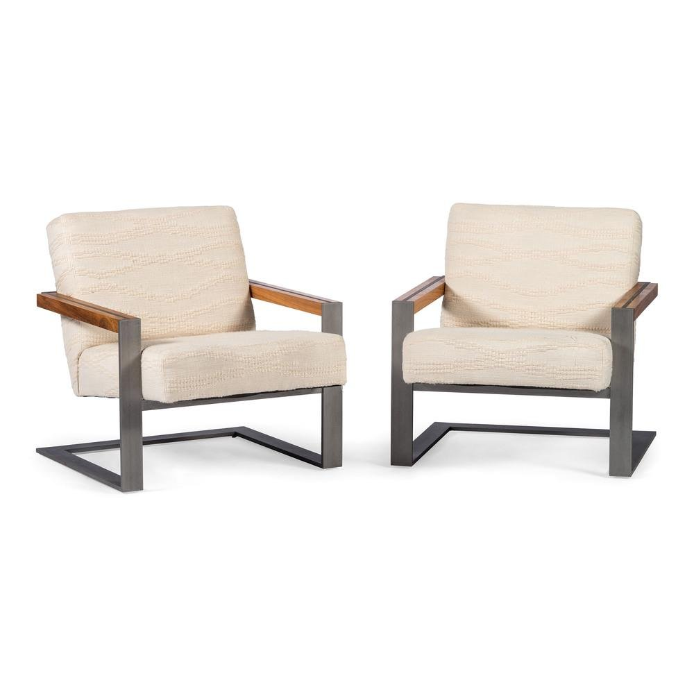 A Pair of Lounge Chairs Attributed to Formanova