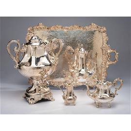 A Victorian Sterling Tea and Coffee Service