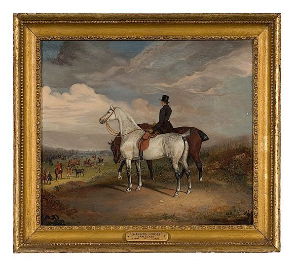 1: A Groom With Two Horses Attributed to Samuel Henry A