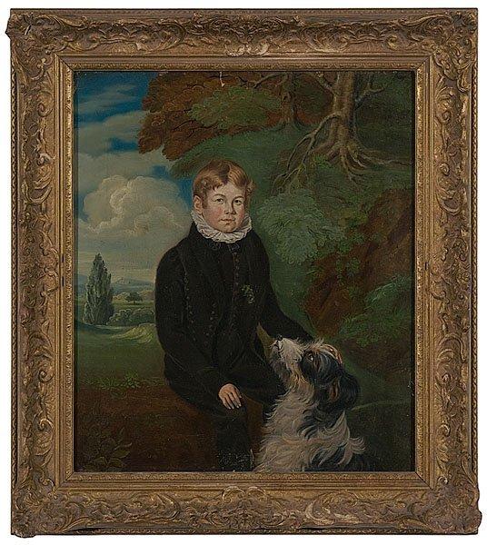 3: English School Portrait of a Boy and His Dog,