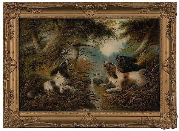 """4: """"Spaniels Putting Pheasant Up"""" After George Armfield"""