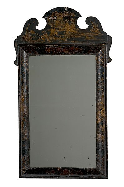 9: Queen Anne Japanned Looking Glass,