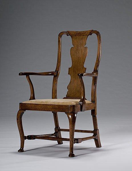 10: English Queen Anne Armchair,