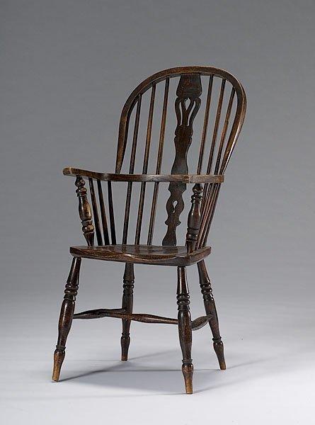 18: English Windsor Arm Chair,