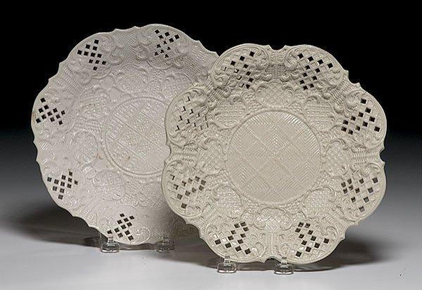 20: Two 18th Century Salt-glazed Plates,