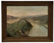 187: Hudson River School Landscape,