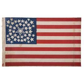 42-Star Halo American Flag
