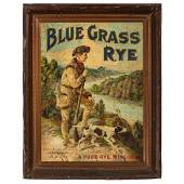 A Froeb Company Blue Grass Rye Tin Advertising Sign
