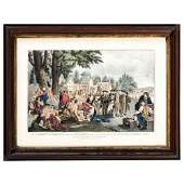 Three Currier and Ives Hand-Colored Lithographs