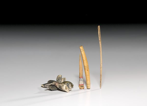 8: Assorted Bone and Ivory Implements,