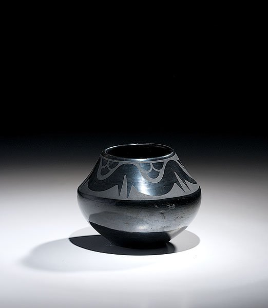 199: San Ildefonso Blackware Bowl by Maria Martinz and