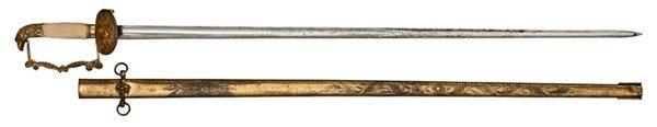 10: U.S. Eagle Pommel Militia Sword,