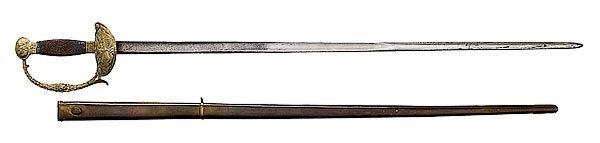 12: U.S. Artillery Militia Sword,