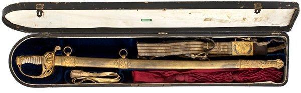 15: Cased Civil War Presentation Sword of Col. T. Ruger