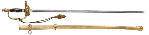 18: Civil War M1860 Staff Officer's Dress Sword Belongi