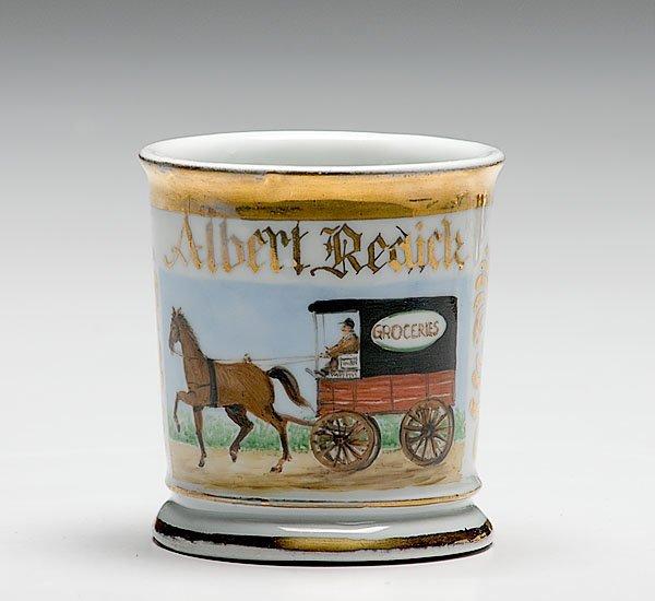4: Occupational Shaving Mug with Grocery Wagon,