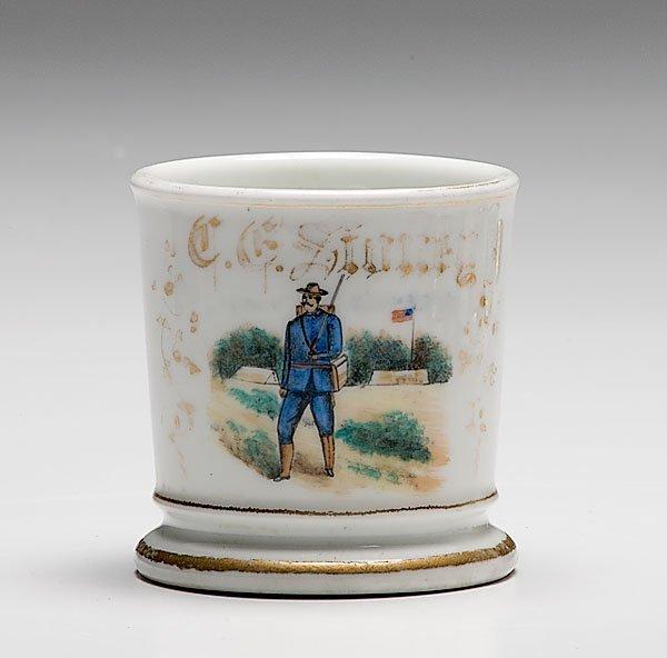 9: G.A.R. Shaving mug of C.G. Stoney, 21st Conn. Infant